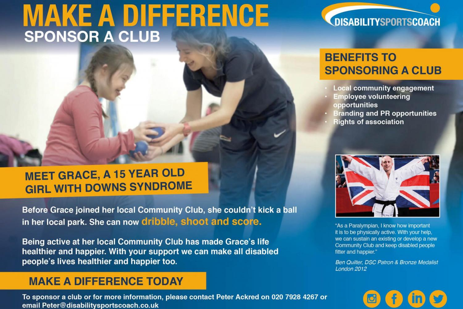 DSC Sponsor a club - make a difference