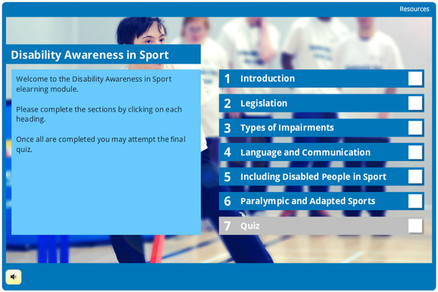 e-Learning: Disability Awareness in Sport - disability sports coach