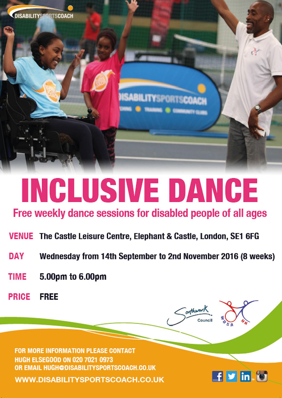 Disability Sports Coach Inclusive Dance at The Castle Leisure Centre