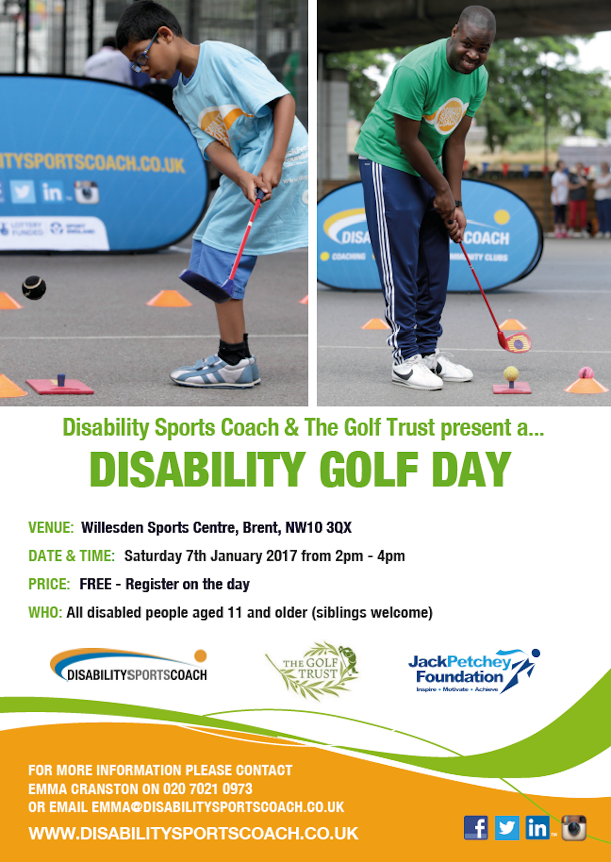 Disability Golf Day - Saturday 7th January 2017 - The Golf Trust