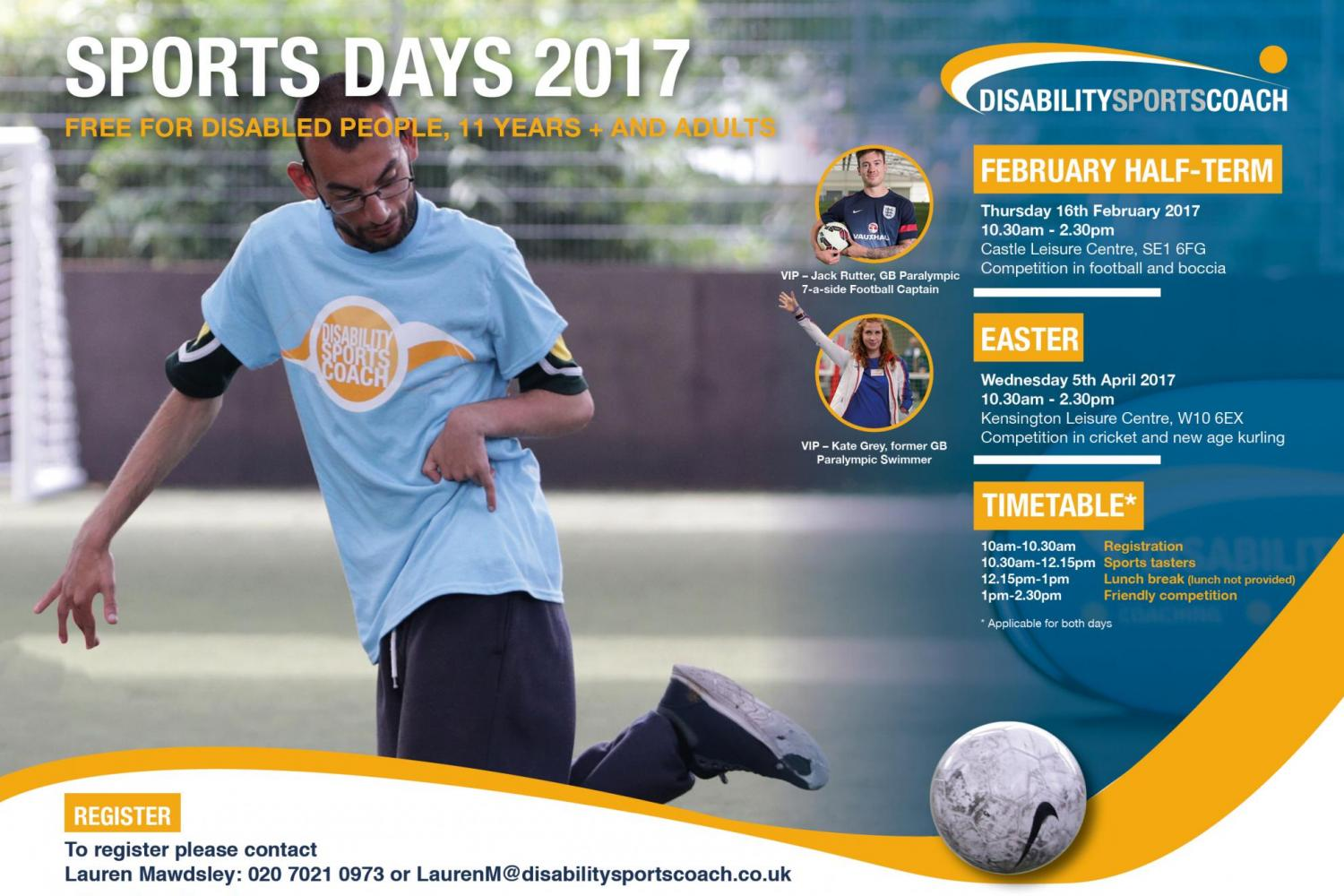 DSC February Sports Day Flyer - Jack Rutter GB Paralympian