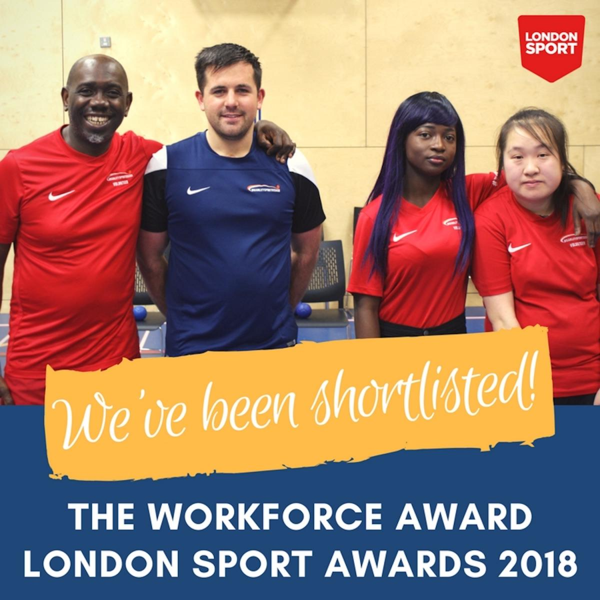 London Sport Awards 2018 - Workforce Award - Disability Sports Coach