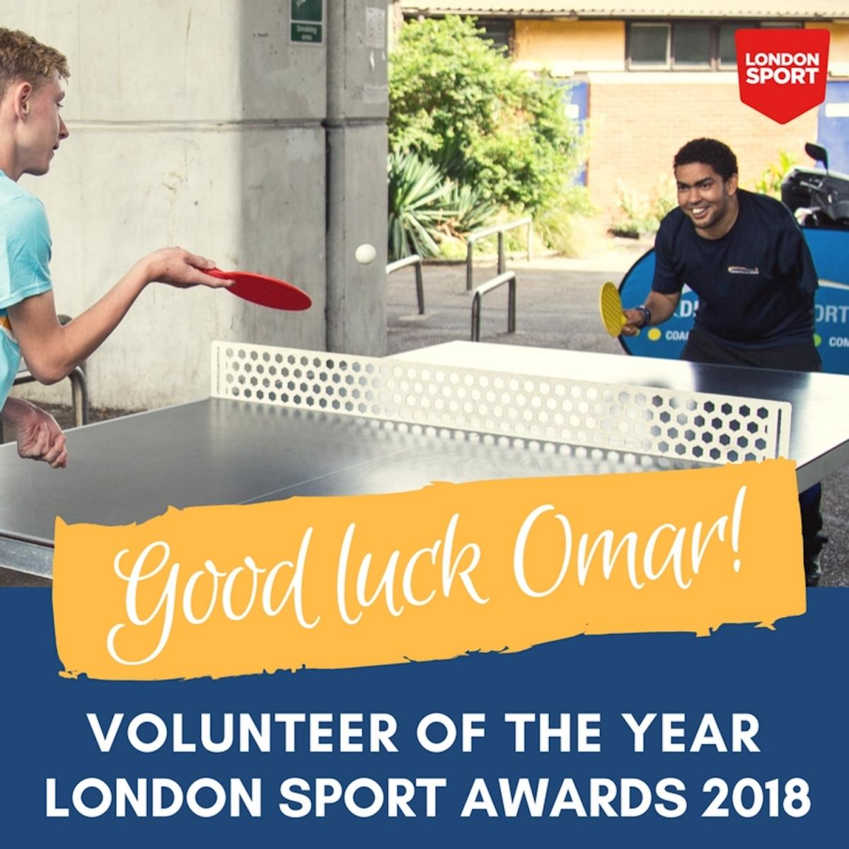 London Sport Awards 2018 - Volunteer of the Year Award - Omar Shariff, Disability Sports Coach