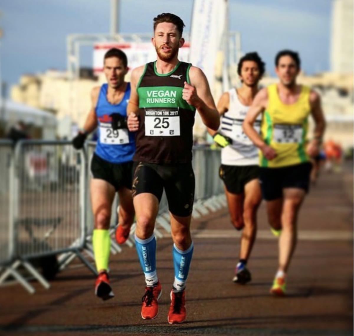 Brendan O'Boyle runs Brighton Marathon 2018 for Disability Sports Coach