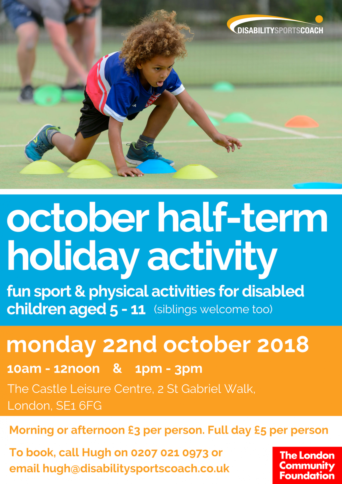 Disability Sports Coach Kids Camp 5-11 October 22nd 2018 Disabled Children Activities
