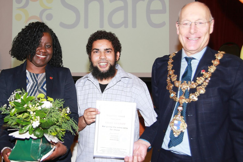 Omar Shariff Disability Sports Coach receives Share Community award