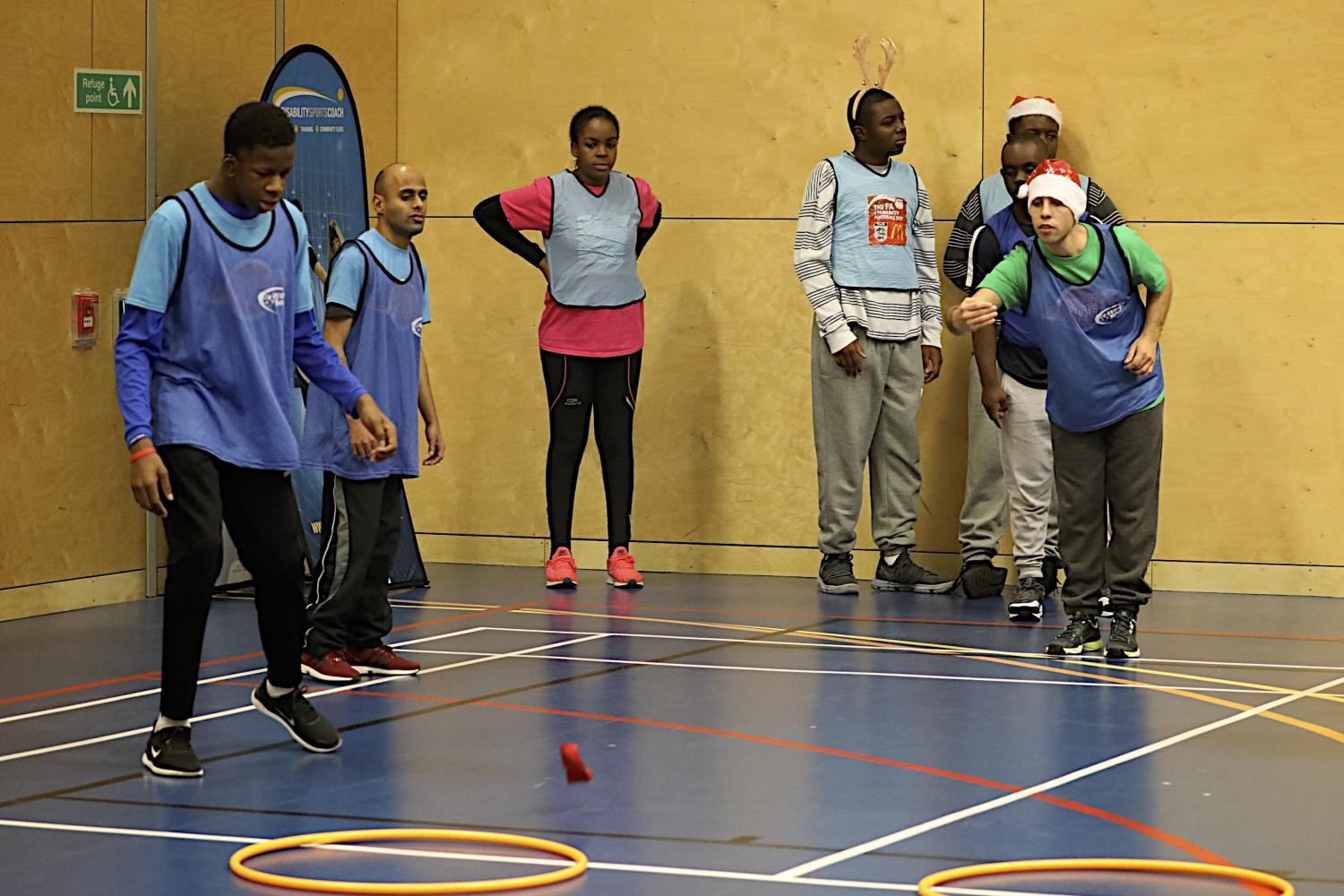 Disability Sports Coach Unity - Christmas Club - Photo by Kay Fackerell
