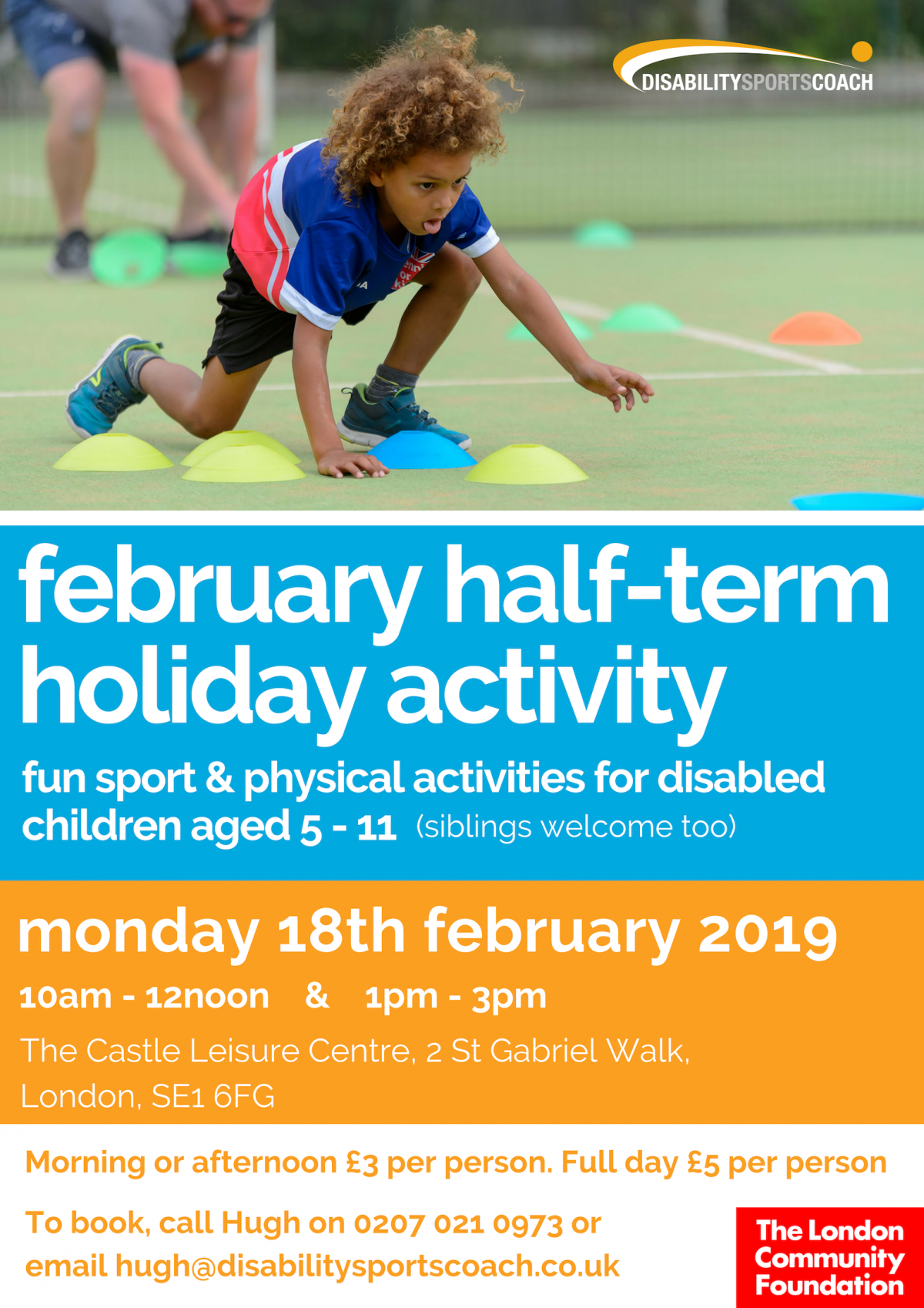 Disability Sports Coach February Half Term Activity Holiday Disability Sport