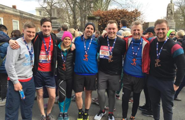 Team DSC complete The Big Half 2019