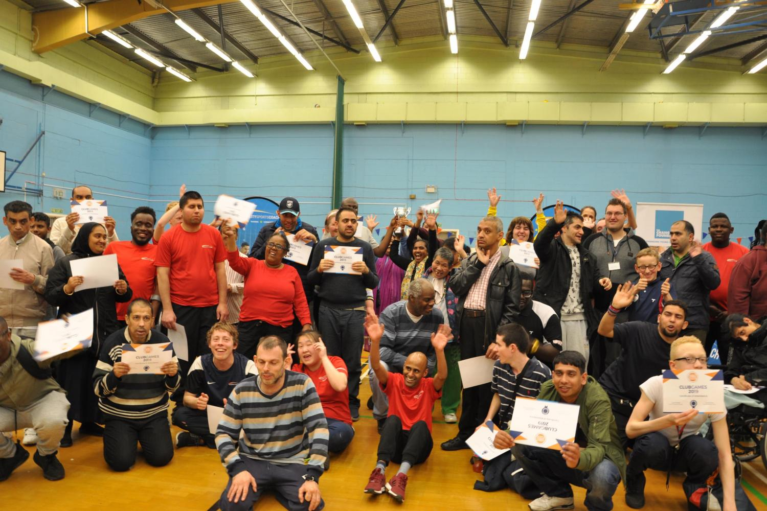 Disability Sports Coach East ClubGames 2019 - celebration event