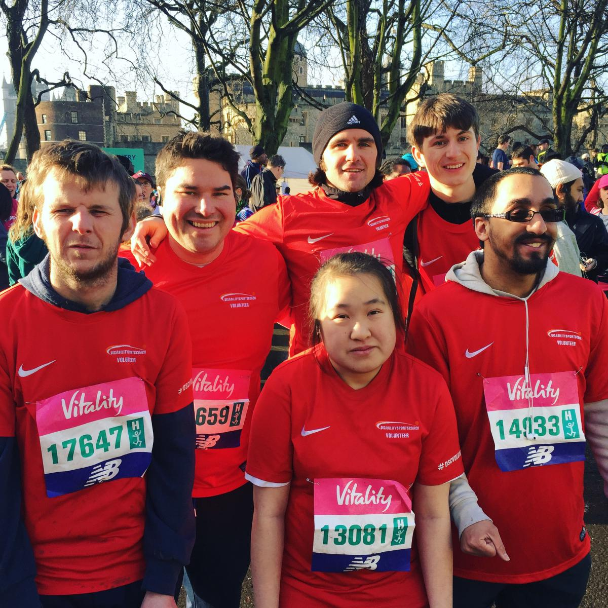 Disability Sports Coach Westminster Mile Runners 2019