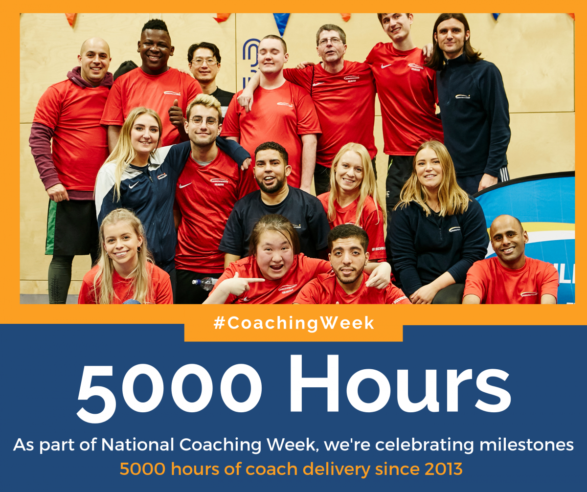 Disability Sports Coach National Coaching Week - Milestones - 5000 Hours