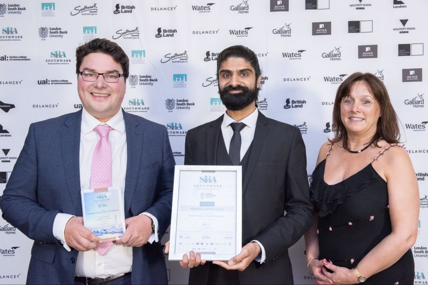 Disability Sports Coach Best Charity - Southwark Business Excellence Awards 2019