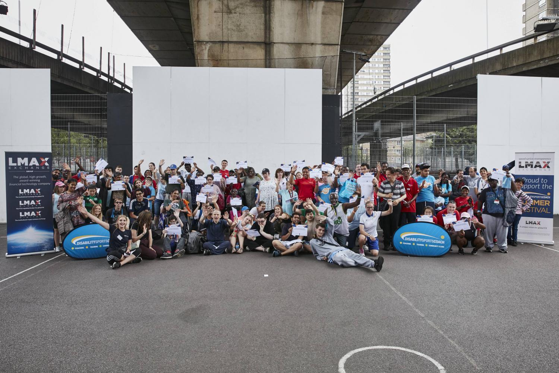Disability Sports Coach Summer Festival 2019 - #DSCSummerFestival - Group Photo - Westway Sports Centre