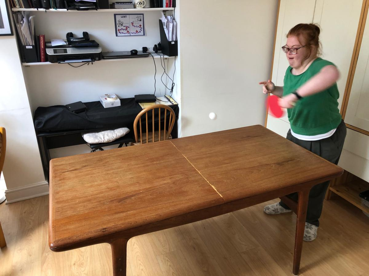 Home Equipment Packs being used by a member - table tennis