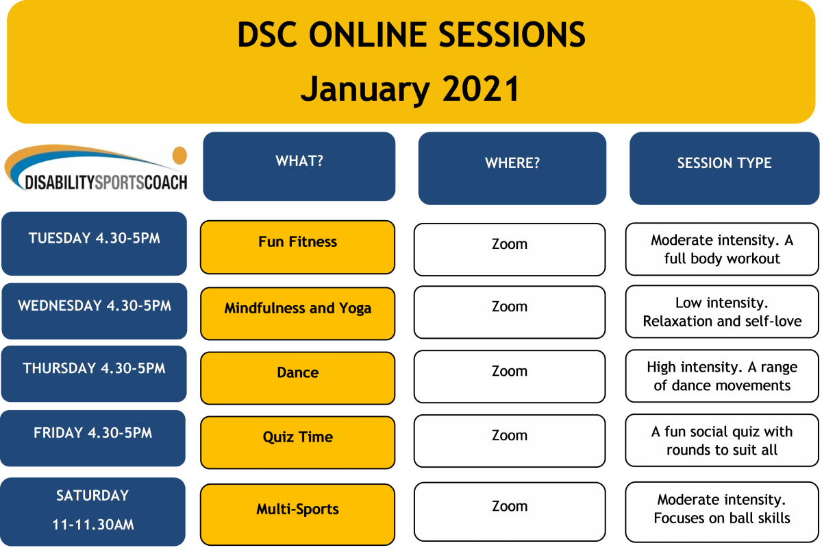 DSC Online Sessions Timetable
