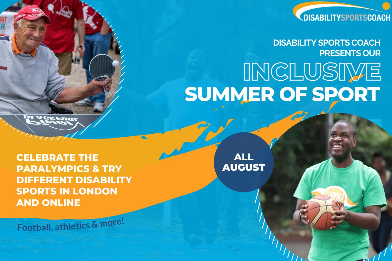 Inclusive Summer of Sport 2021 header