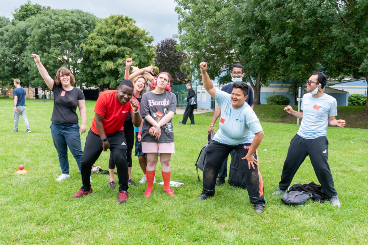 Volunteers and members posing in a group at our Wandsworth Paralympics event